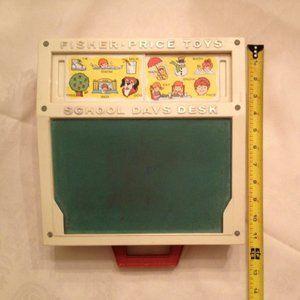 Fisher Price Vintage School Days Play Desk